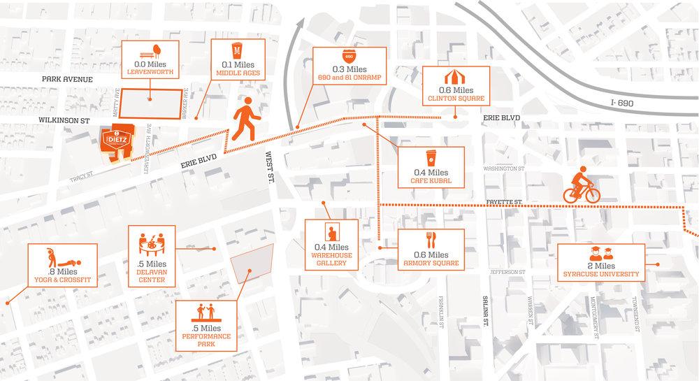Dietz Syracuse Map