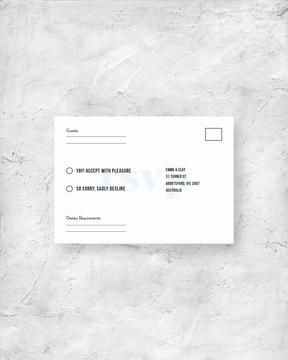 RSVP Card - Back