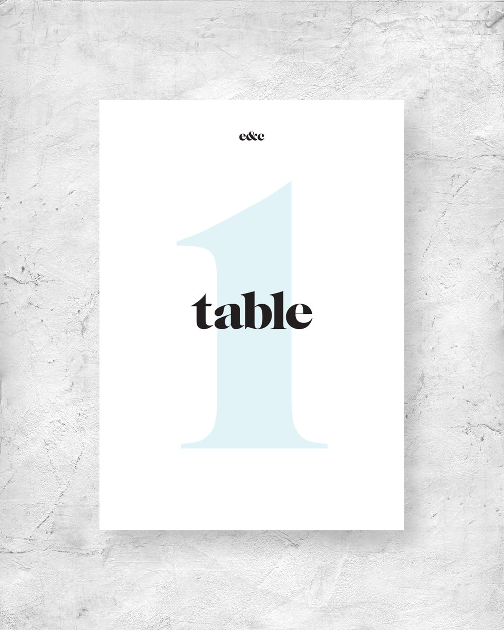 Table Number Signage - Numeral
