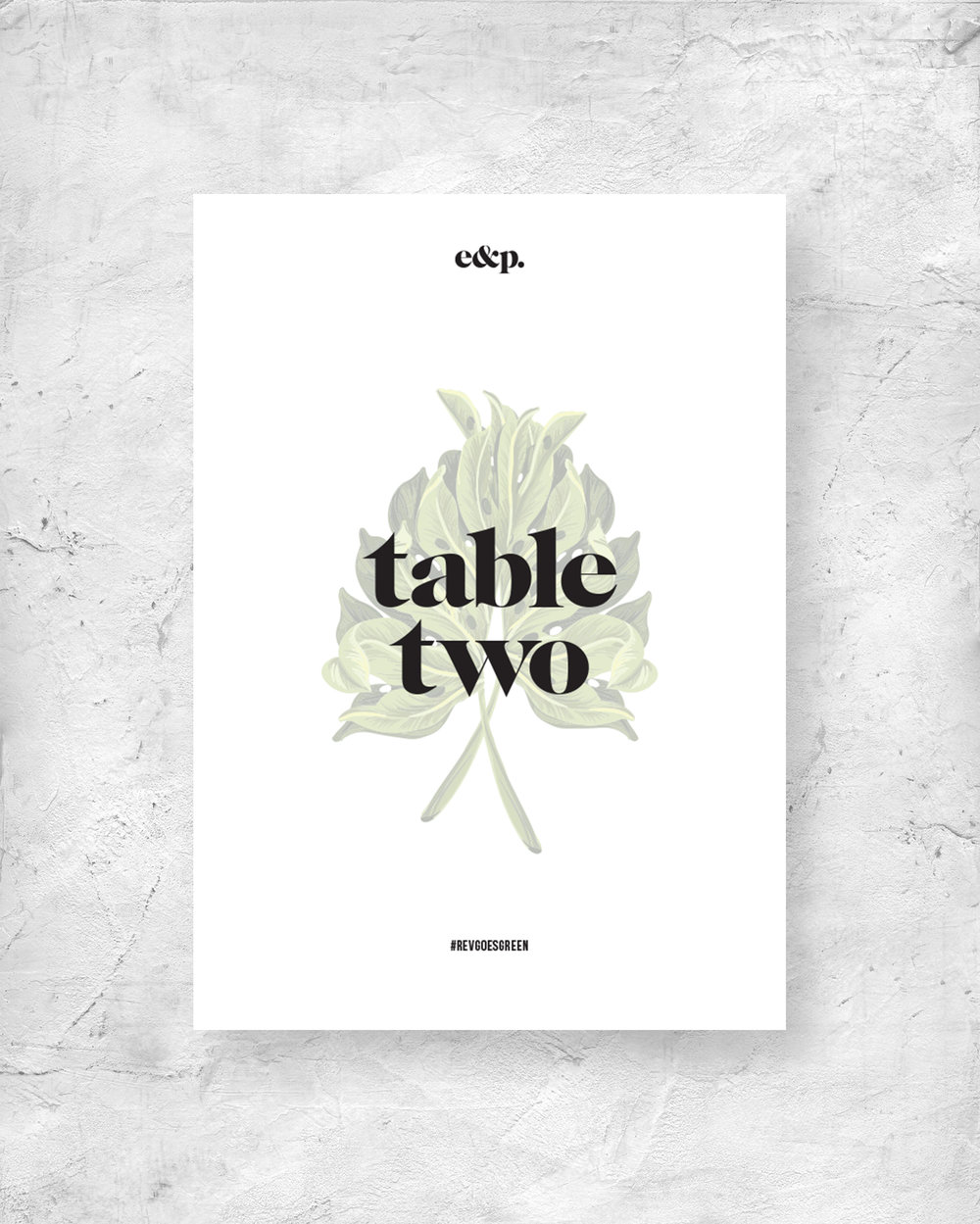 Table Number Signage - Leaf