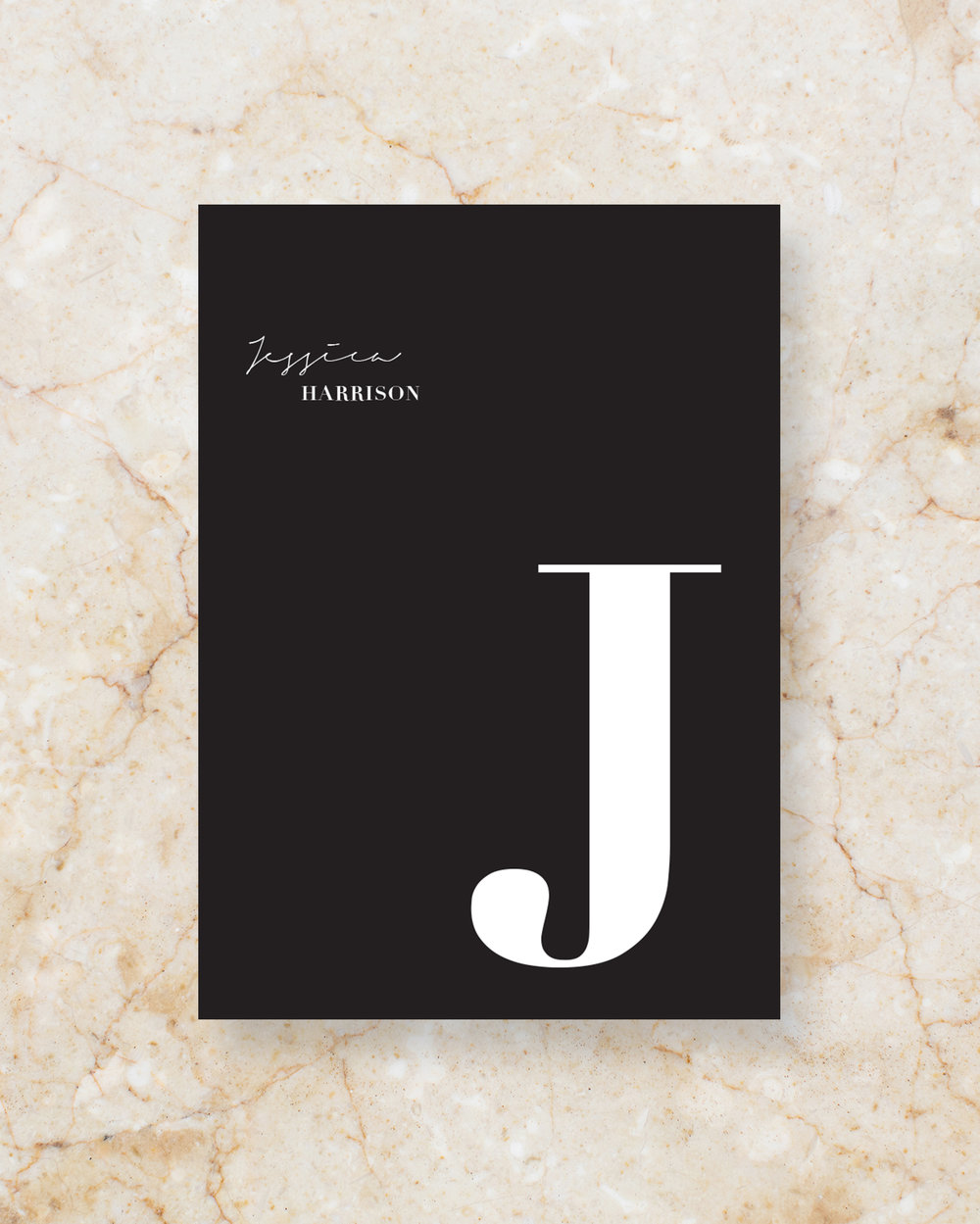 Personalised Menu II - Black