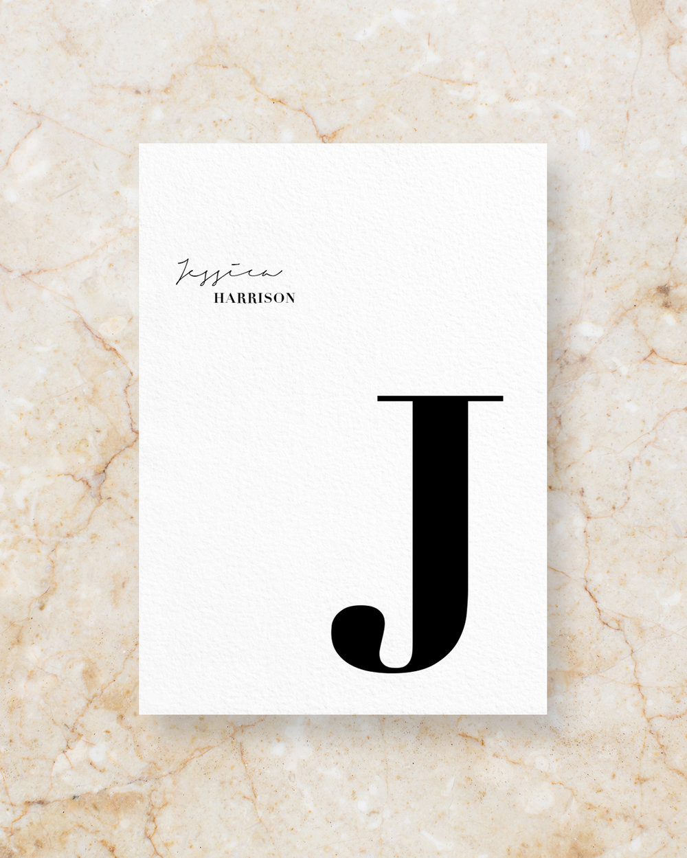 Personalised Menu II - White