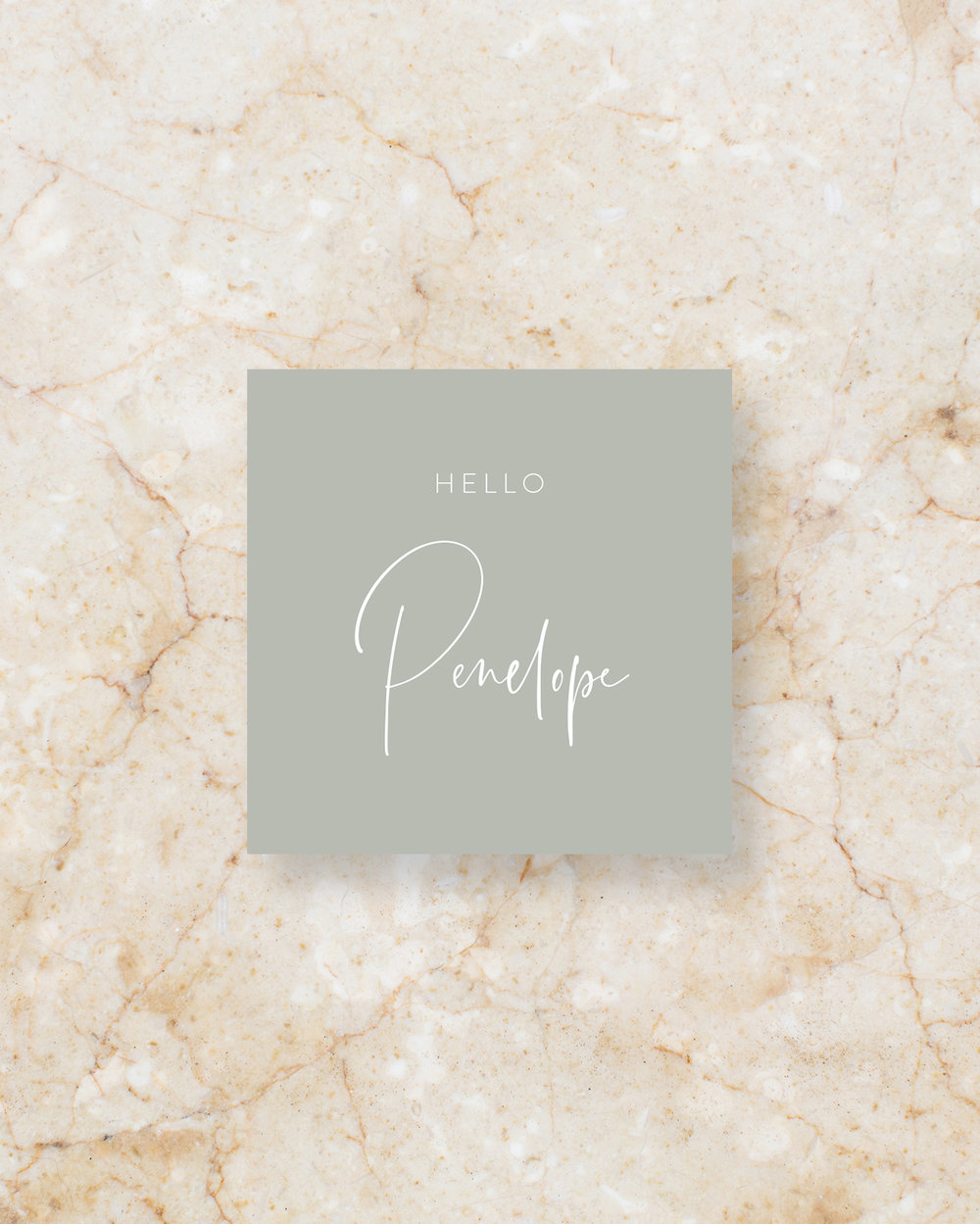 Place Card I - Grey