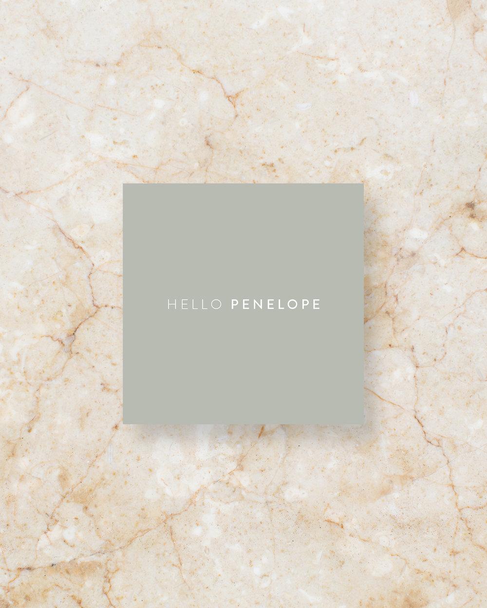 Place Card II - Grey