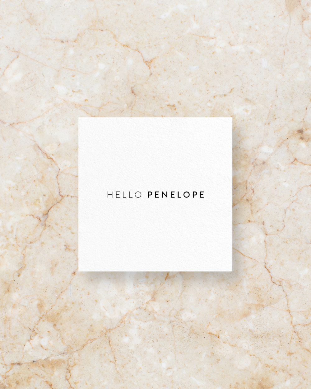 Place Card II - White