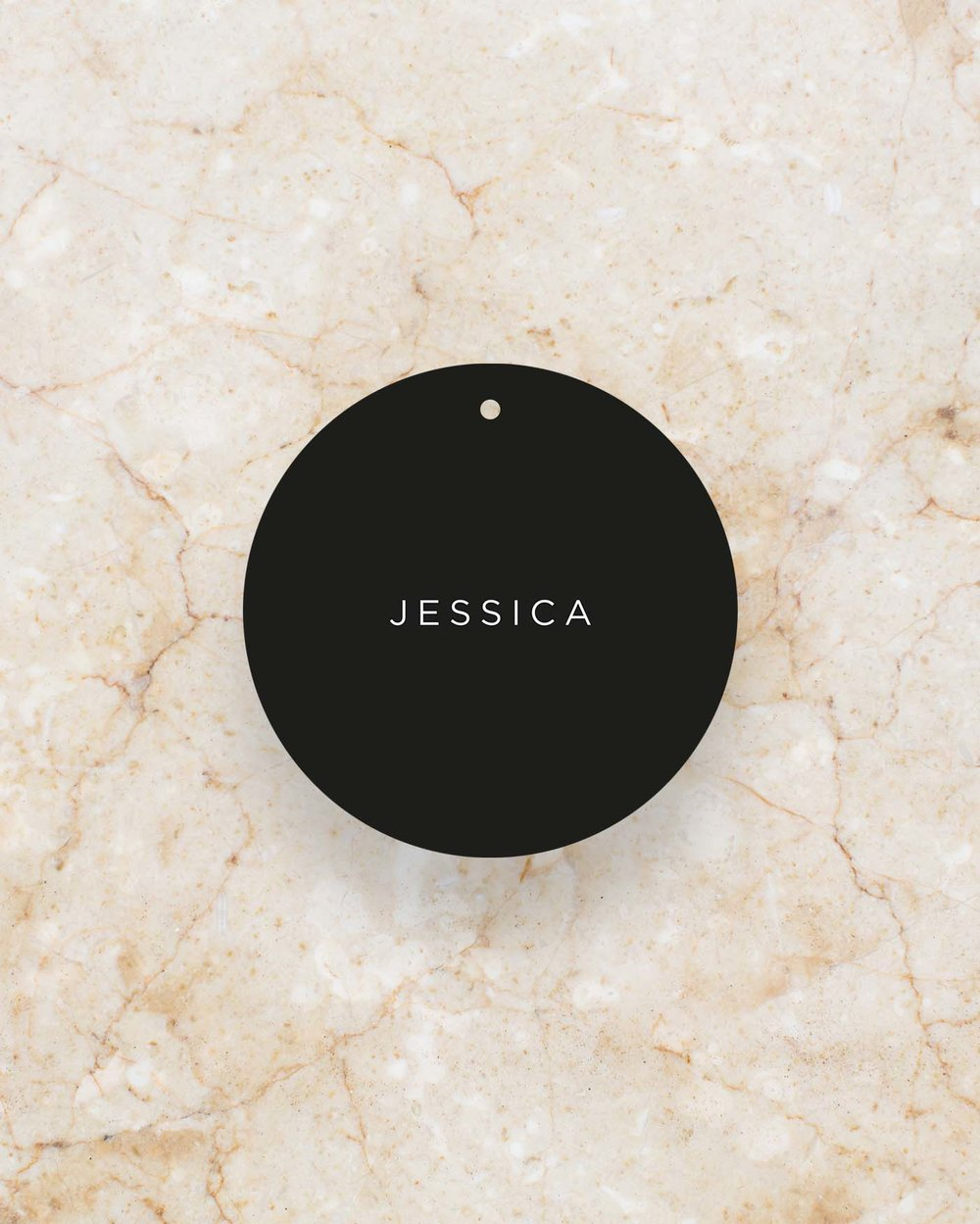 Place Card Swing Tag - Black