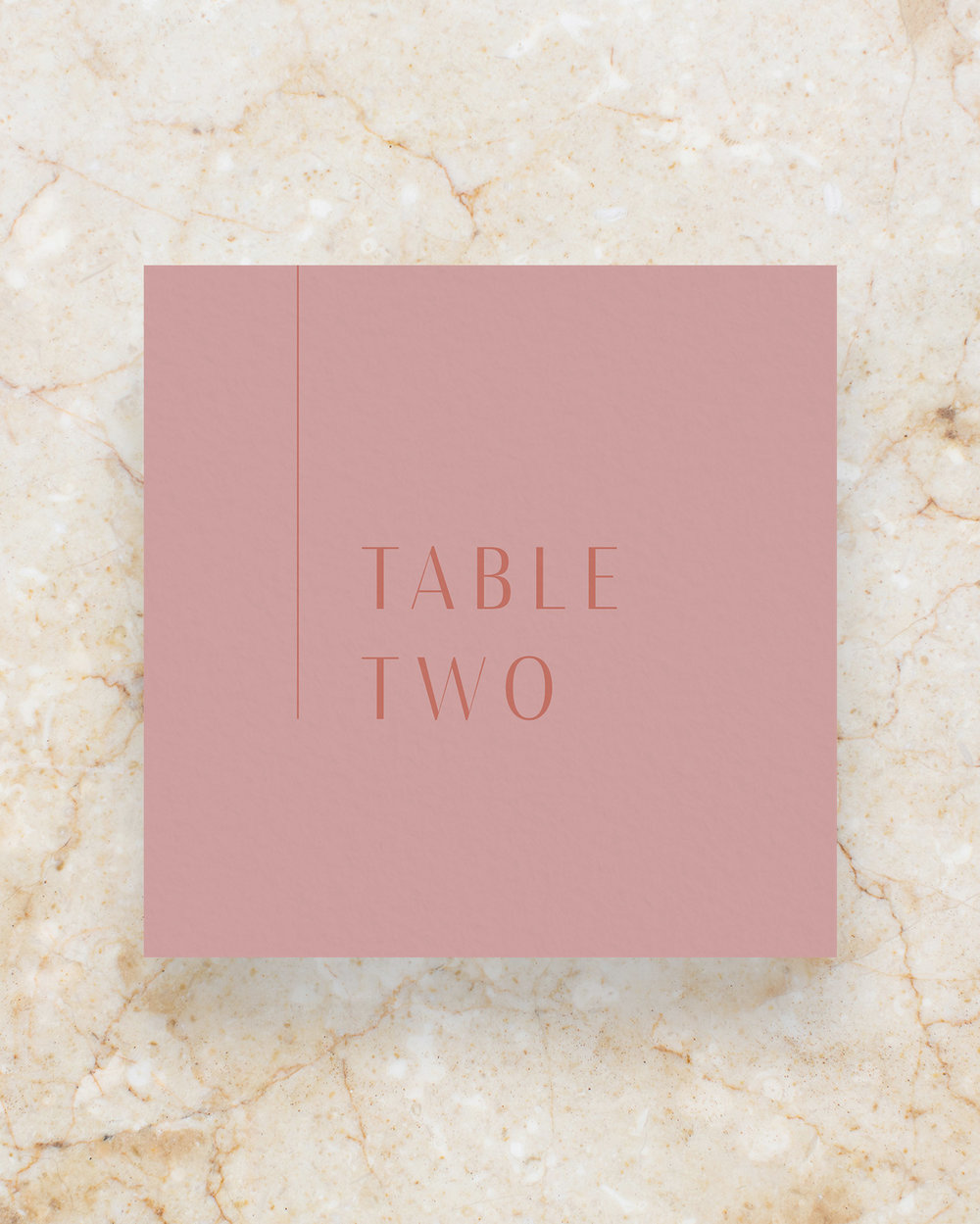 Table Number - Rose