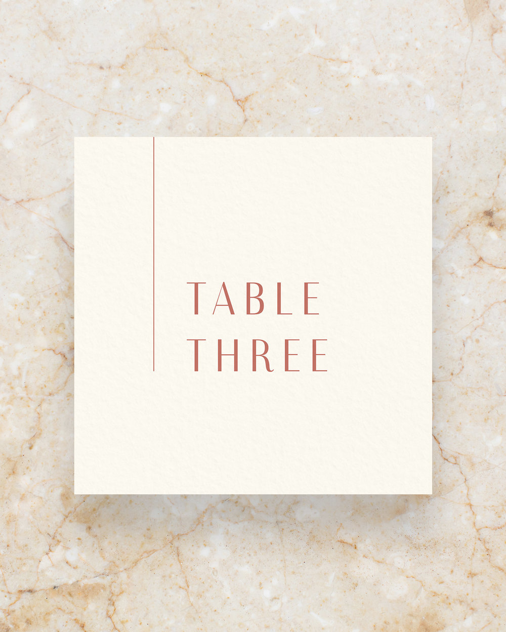 Table Number - Cream