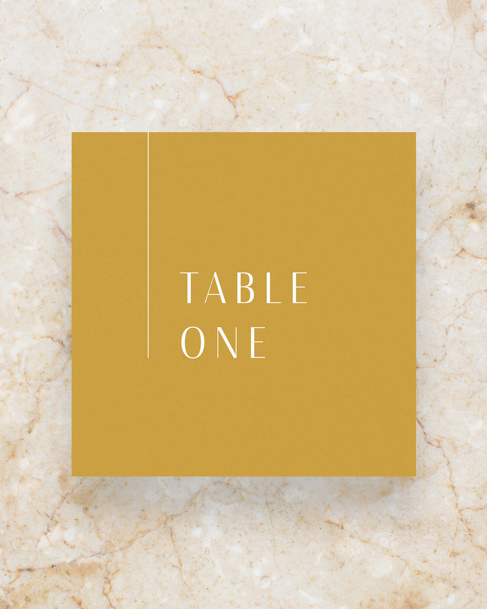 Table Number - Mustard
