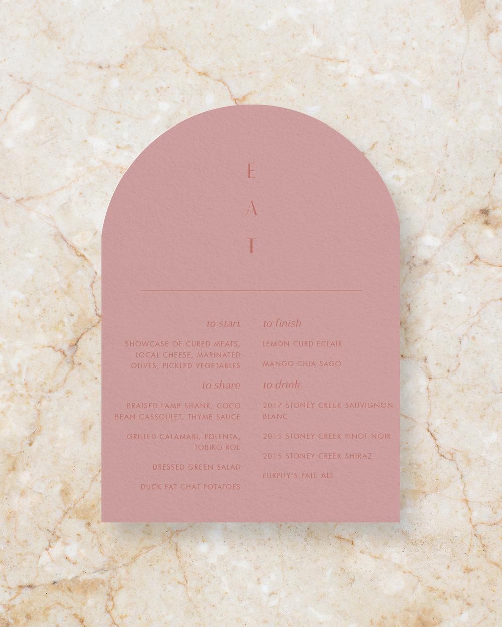 Arch Menu - Rose