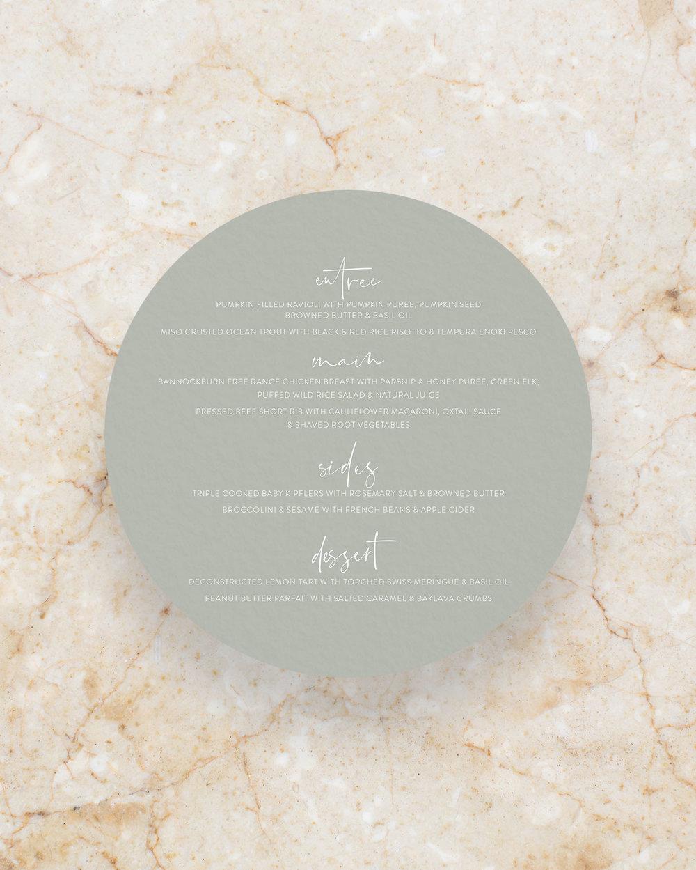 Circle Menu - Grey
