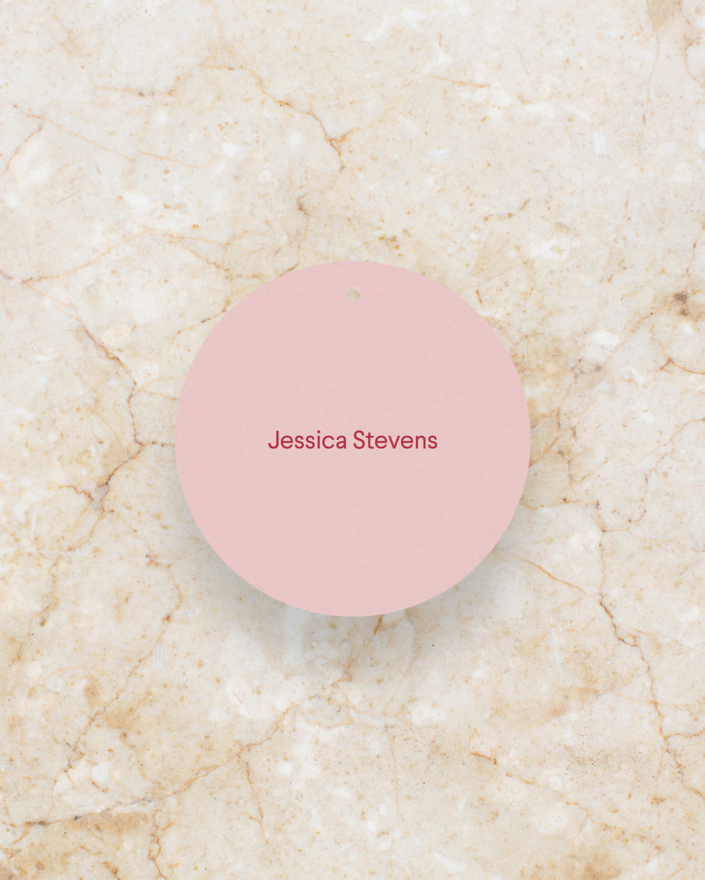 Place Card Swing Tag - Blush