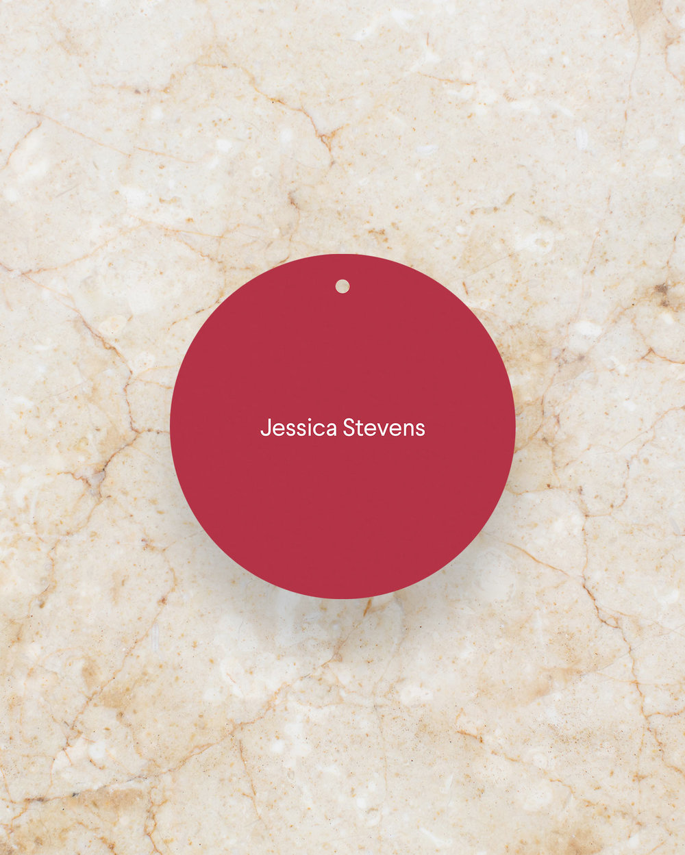 Place Card Swing Tag - Scarlet