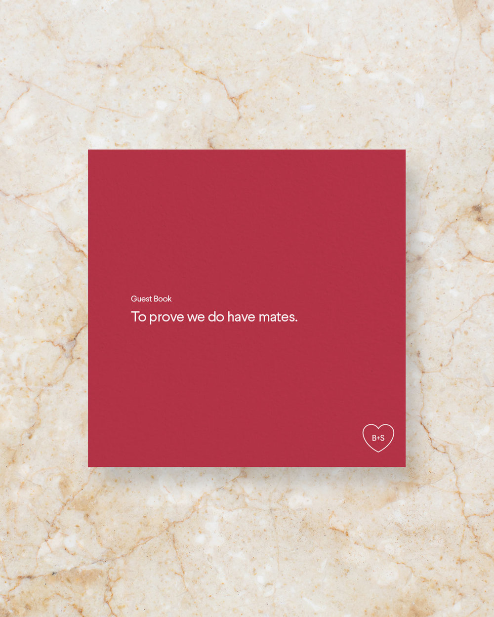 Guest Book Sign - Scarlet