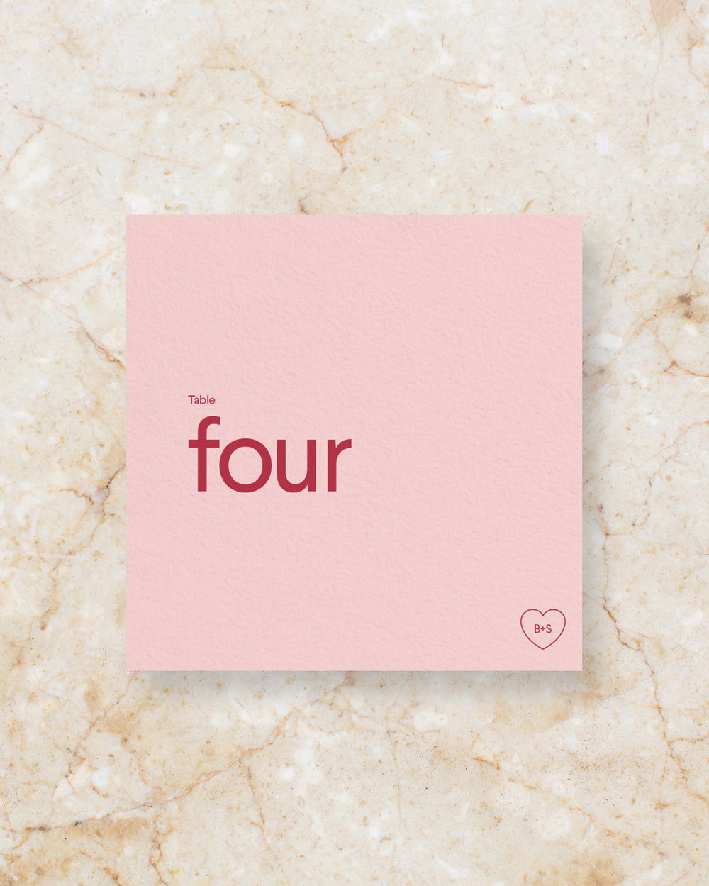 Table Number - Blush