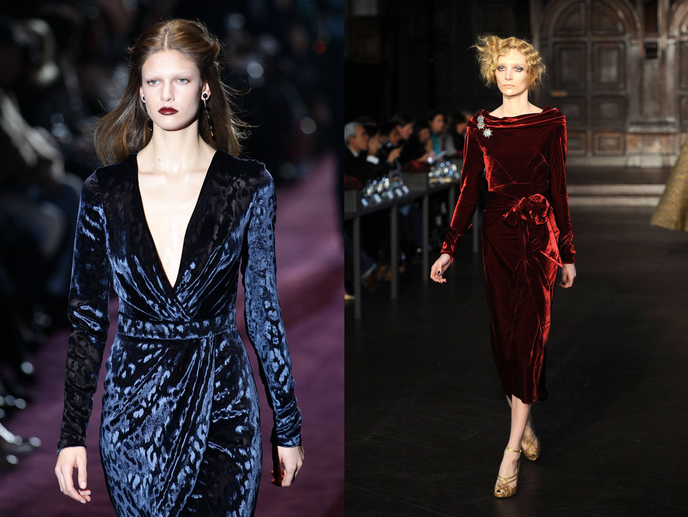 Look 1: Plushed Velvet in Midnight Blue and Wine. @Gucci | Runway show, fashion week in Mllan, 2012