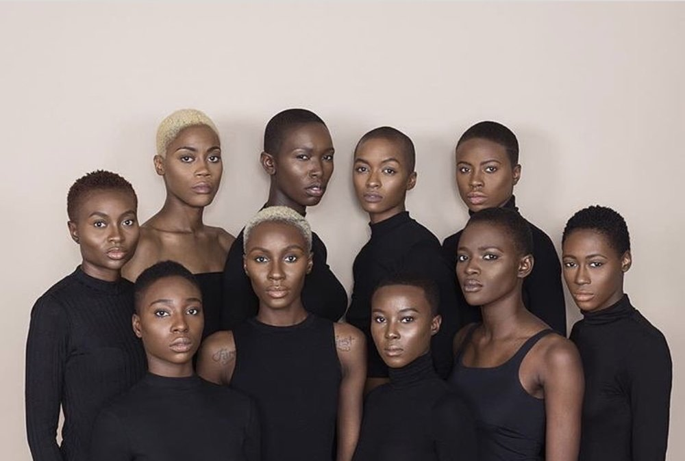 Right to left: @_petite.fleur.x, @labelletogolaise, @40oz.tea, @ohwawa_, @cherrelle_champagne, @suhailahwall, @_missama, @iamnatalialewis, @magnediaye, @tashyasmine for Black HIstory Month.  Shot by @stevenhawkinsphotog | Makeup by @jackiesoulchic | Organized by @ohwawa_