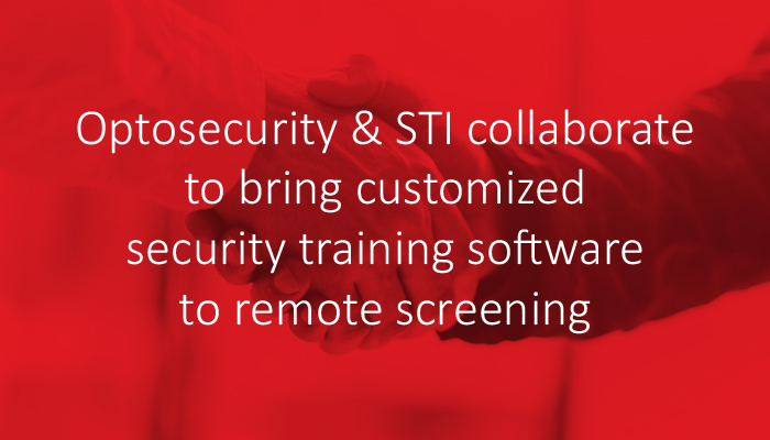 Optosecurity and STI collaborate