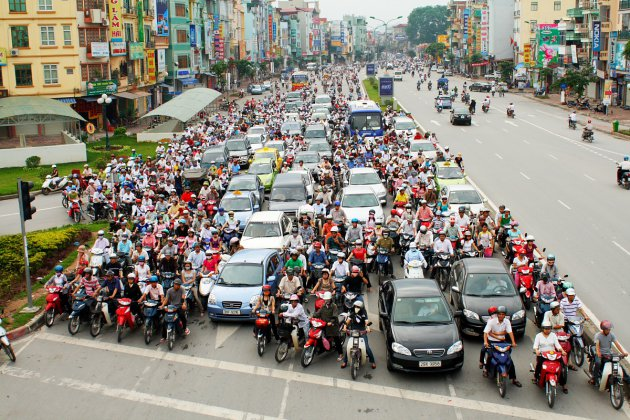 Motorbike traffic in Hanoi,  Talk Magazine