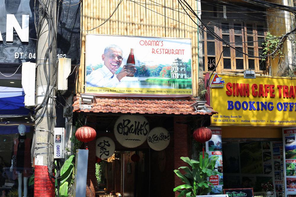 Obama's Restaurant: Hanoi, Vietnam.