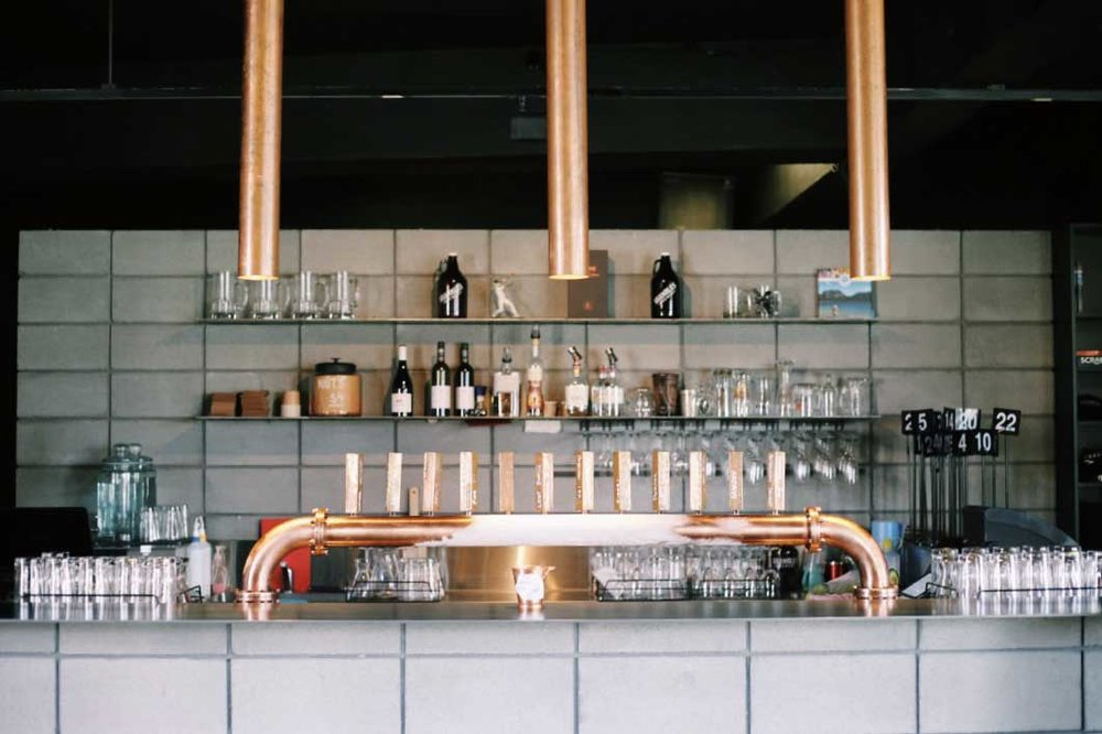 God damn gorgeous copper bar at Shambles.
