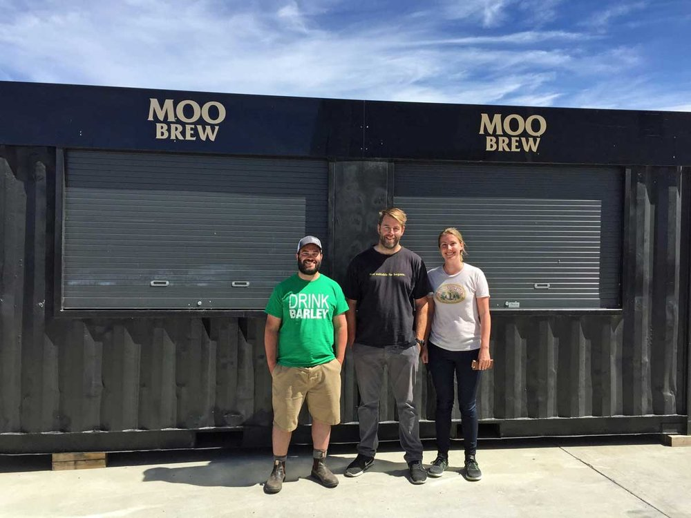 Matt, Dave, and I at Moo Brew.
