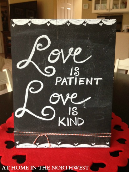love is patient chalkboard art... at home in the northwest blog