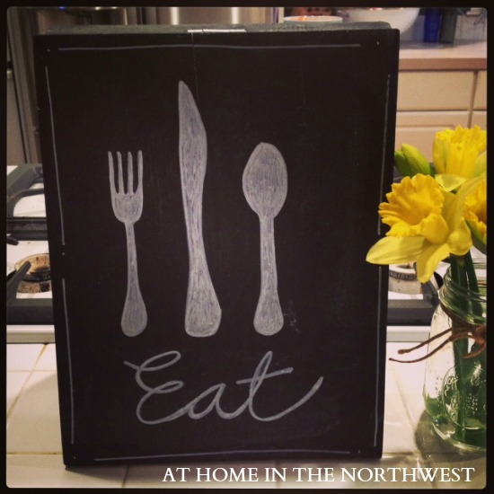kitchen chalkboard art at home in the nw