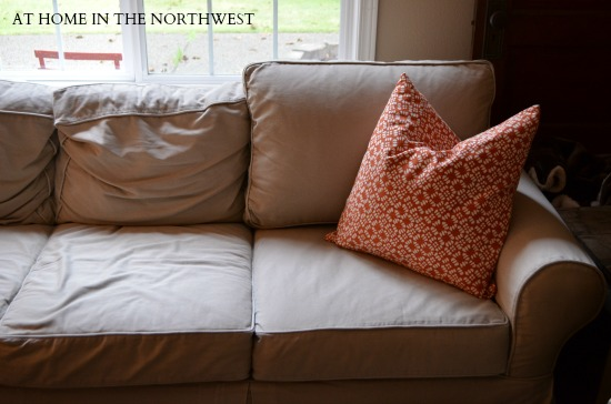 pottery barn couch cushions at home in the northwest
