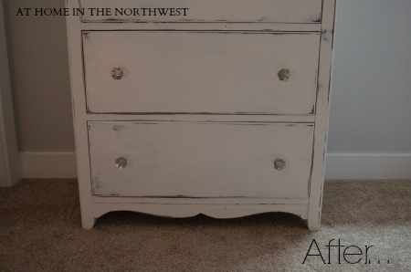 dresser painted with annie sloan chalk paint pure white...at home in the northwest