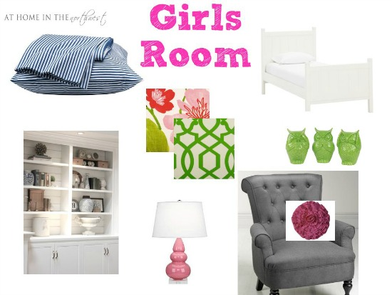 girls room mood board {athomeinthenorthwestblog}