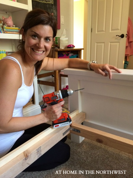 BUILDING A BED  AT HOME IN THE NORTHWEST