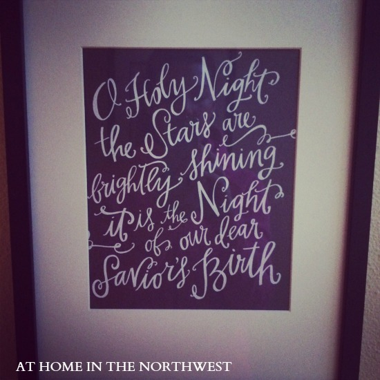 O holy night print  at home in the northwest