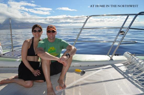 catamaran ride to lanai maui 2  at home in the northwest
