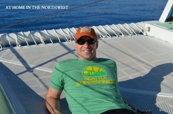 catamaran ride to lanai maui  at home in the northwest