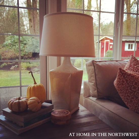 target ceramic lamp  at home in the northwest