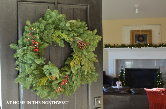 CHRISTMAS WREATH  AT HOME IN THE NORTHWEST