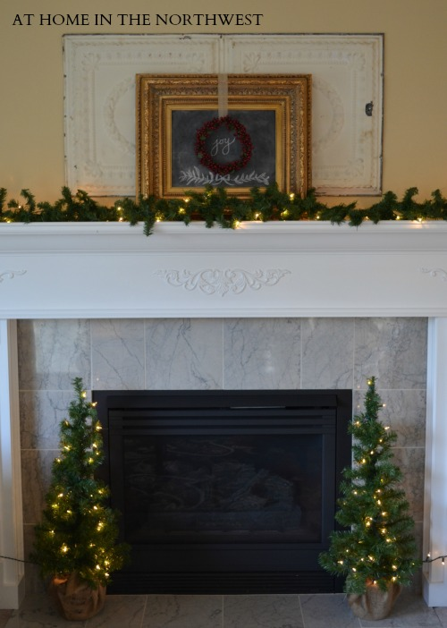 christmas mantel 2013  at home in the northwest