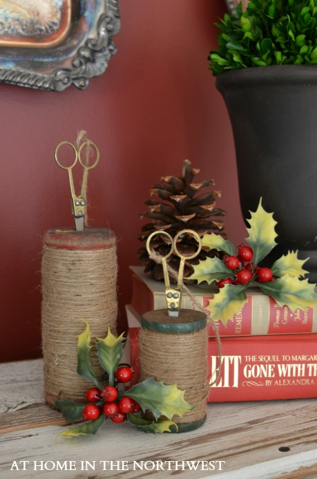 christmas vignette  at home in the northwest