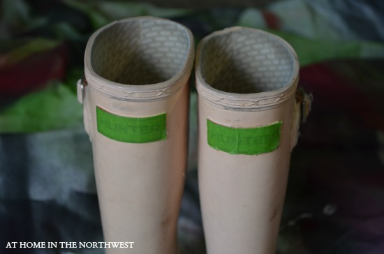 cover the label with painters tape at home in the northwest