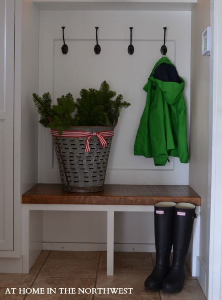 mudroom  at home in the northwest