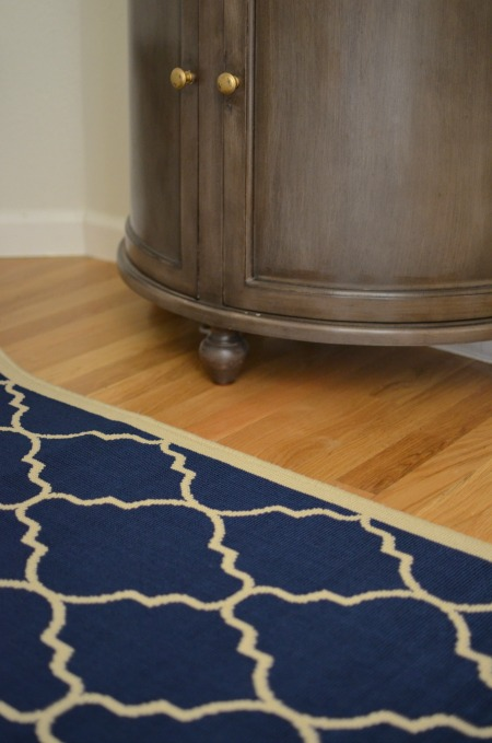 blue trellis rug from home decorators