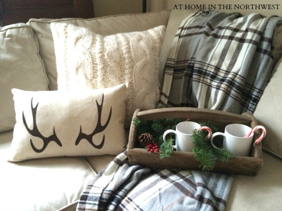 antler pillow and blanket