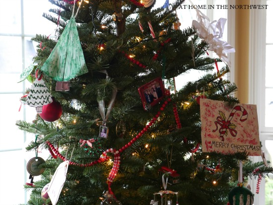 my tree with kid ornaments