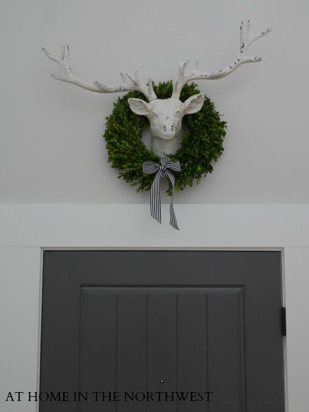 Front door after ... doors benjamin moore kendall charcoal  ... walls benjamin moore classic gray