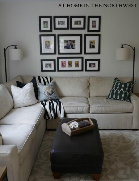 family room update - ben moore classic gray