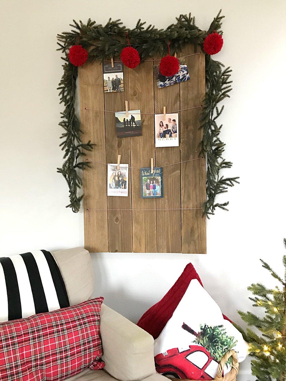 Jen Gilday Interiors - Christmas Card Display Board