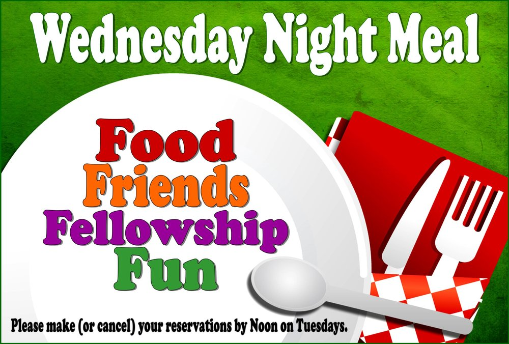 Wednesday Night Dinners are Back - Starting August 16 at 5:15PM - 6:15 PM