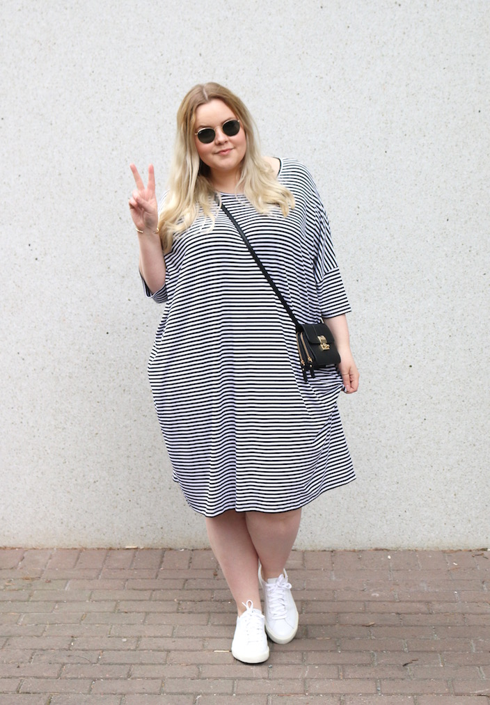yoek striped dress