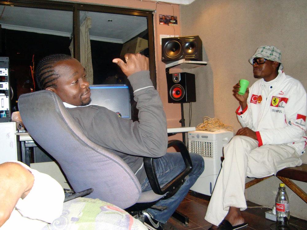 Semiprofessional home recording studio in Soweto. Courtesy Gavin Steingo